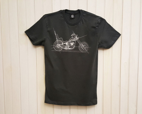 BSA chopper blueprint  |  tshirt