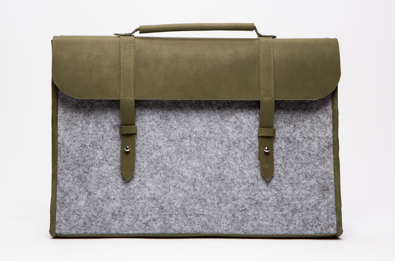 Felt + Leather Laptop Case